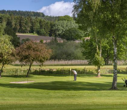 Caravan park with golf course at Pearl Lake photo