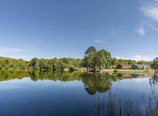 5 star caravan site with fishing lake photo