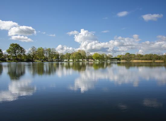 Spring reflections at Pearl Lake 5 star country holiday park