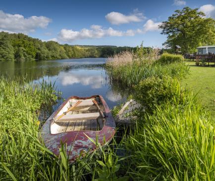 Rowing boat at Pearl Lake