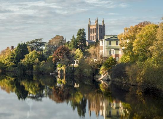 Hereford Cathedral and River Wye