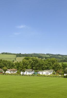 Blue skies and Welsh hills at Rockbridge Park photo