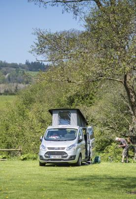 5 star motorhome camping site Presteigne Wales