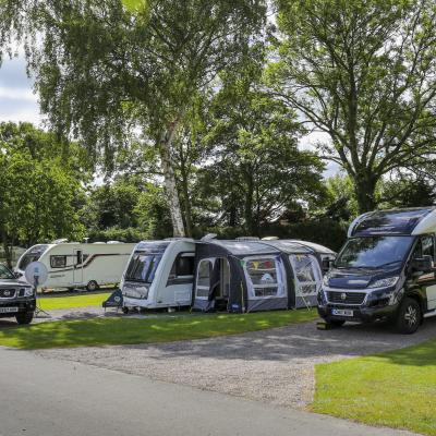 storage touring pitches 5 star caravan park Herefordshire