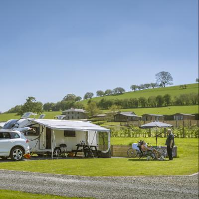 5 star touring site at Rockbridge Park, Wales